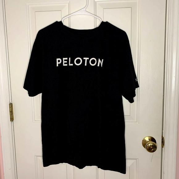Peloton Exercise Workout Black Tshirt XL